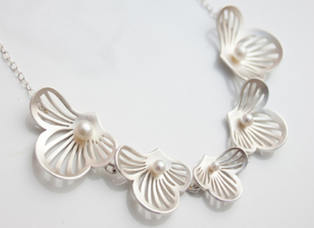Dagmar Korecki Flourish linked necklace with freshwater pearls