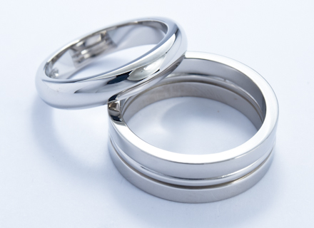 Wedding rings with triple section